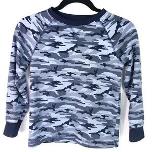 Gymboree Blue Camo Long Sleeve Top TShirt Boys 7-8